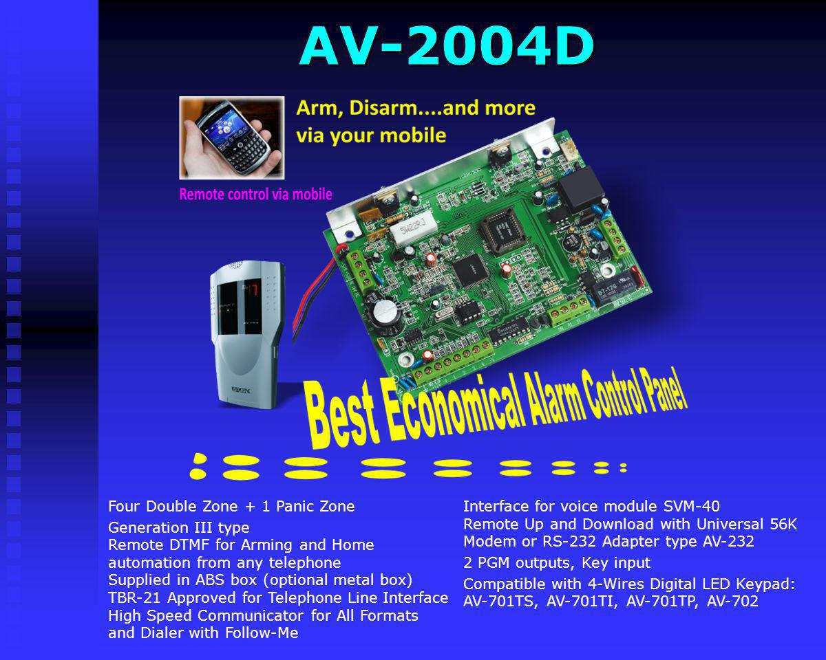 AV-2004D Interface for voice module SVM-40 Remote Up and Download with Universal 56K Modem or RS-232 Adapter type AV-232.