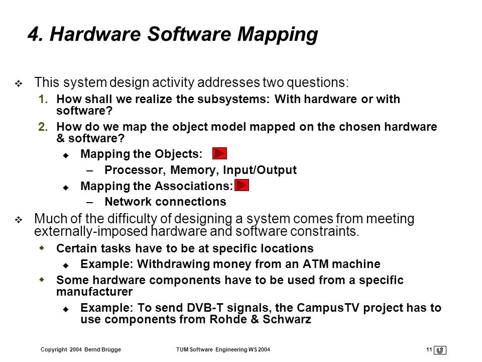 4. Hardware Software Mapping