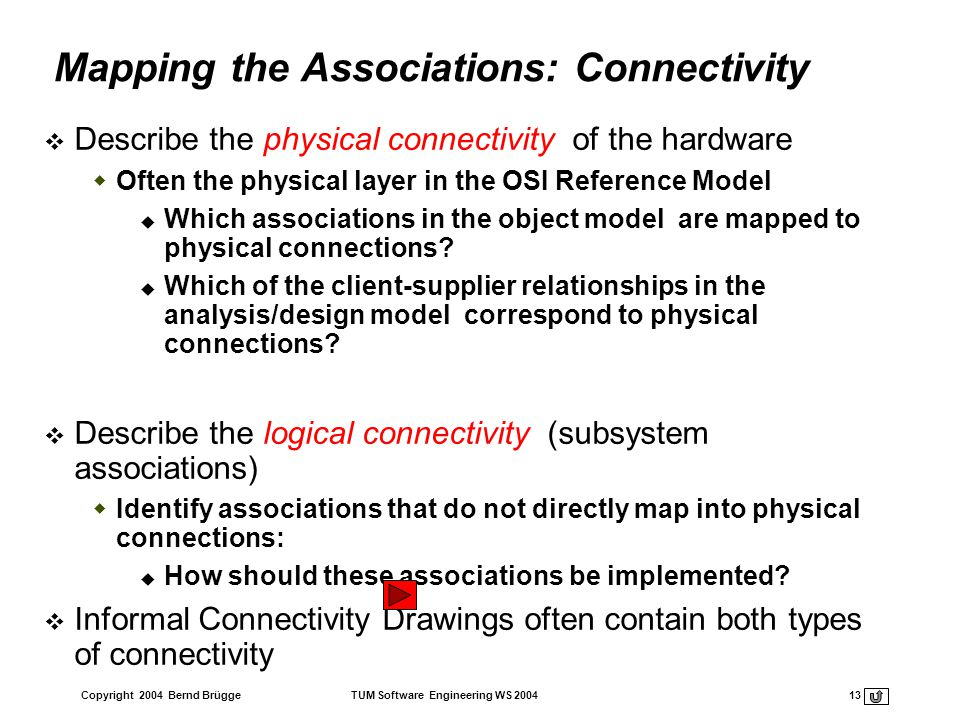 Mapping the Associations: Connectivity