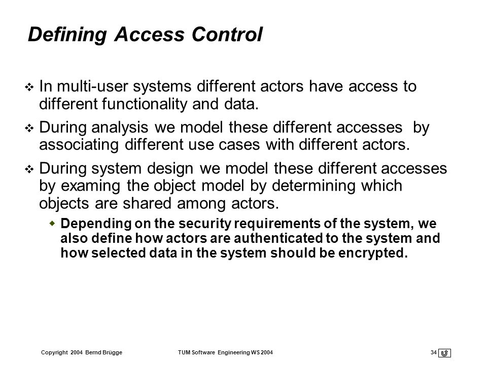 Defining Access Control