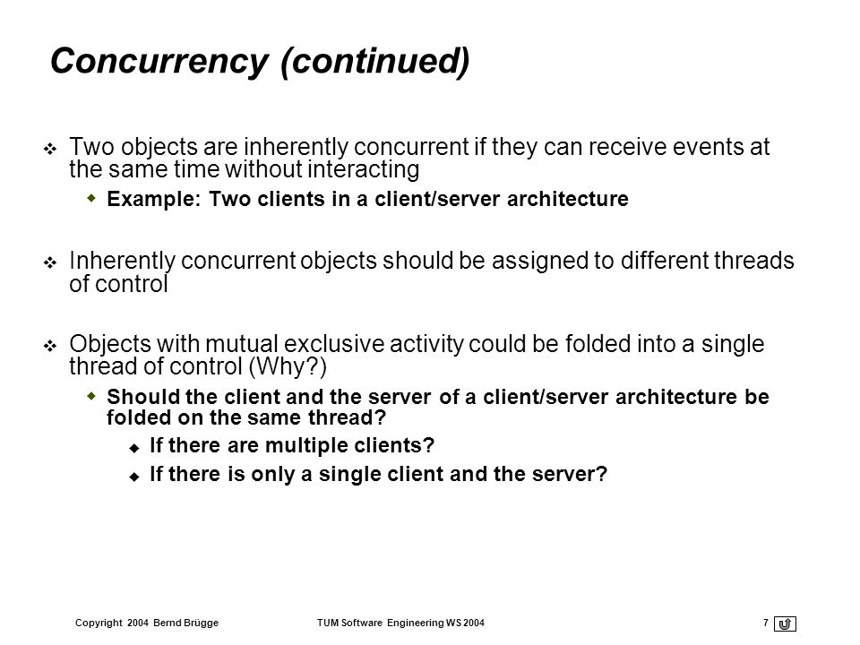 Concurrency (continued)