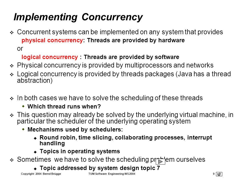 Implementing Concurrency