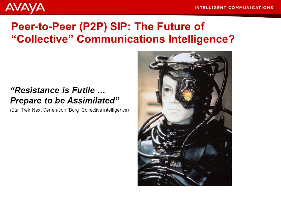Peer-to-Peer (P2P) SIP: The Future of Collective Communications Intelligence