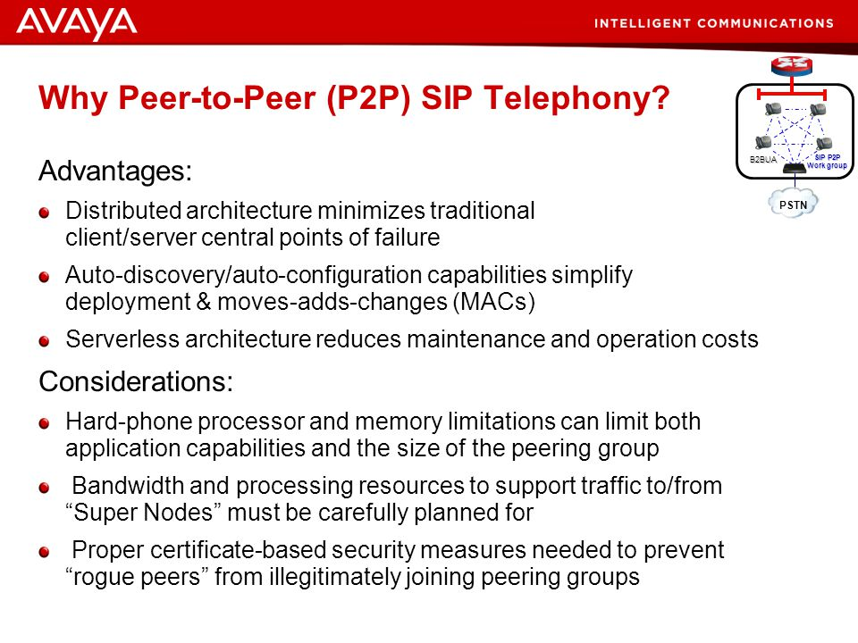 Why Peer-to-Peer (P2P) SIP Telephony