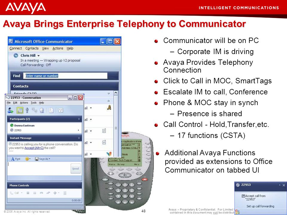 Avaya Brings Enterprise Telephony to Communicator