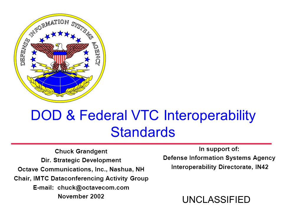 DOD & Federal VTC Interoperability Standards