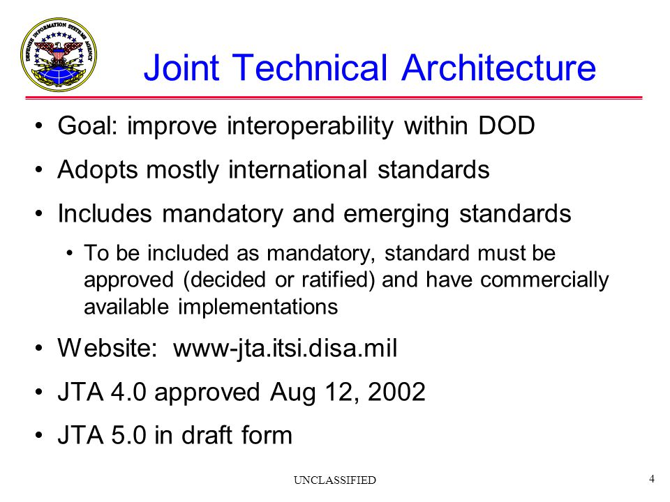 Joint Technical Architecture