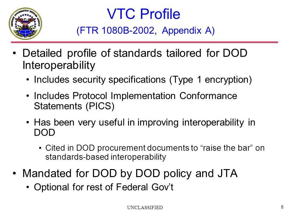 VTC Profile (FTR 1080B-2002, Appendix A)