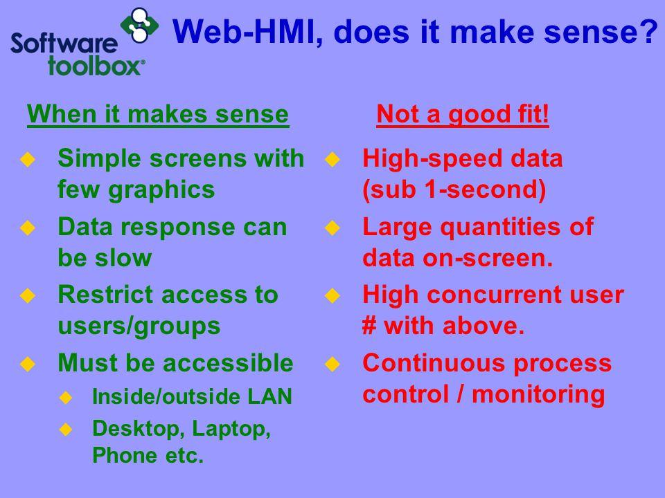 Web-HMI, does it make sense
