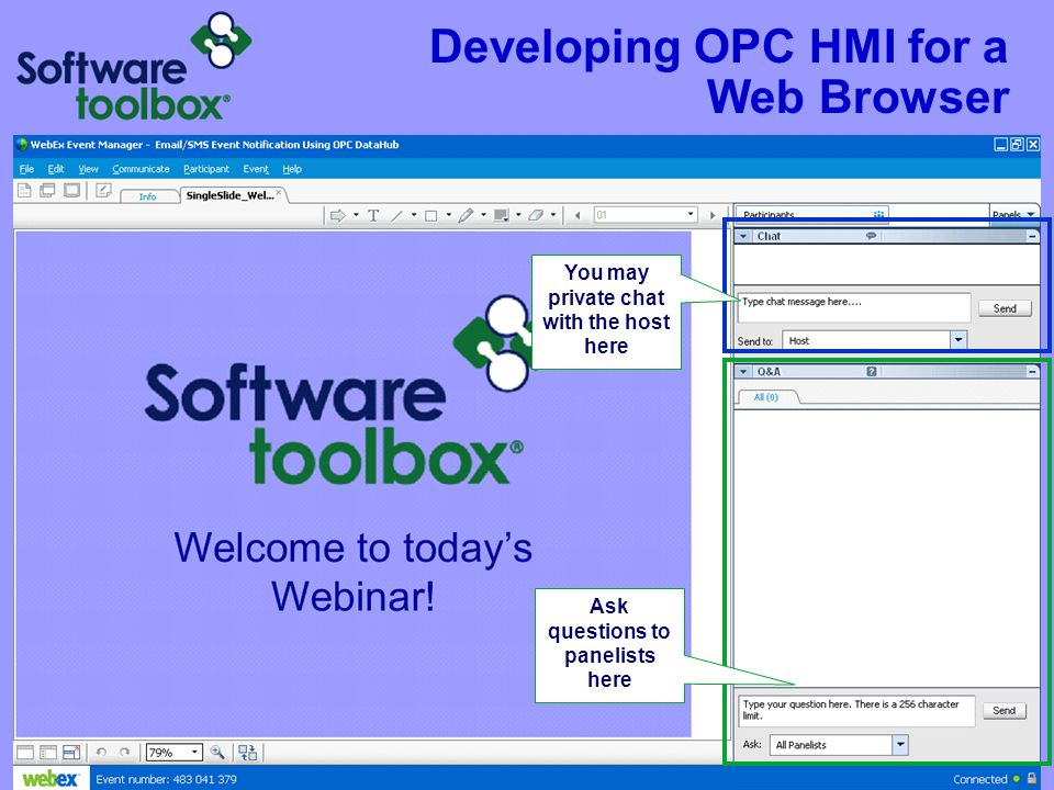 Developing OPC HMI for a Web Browser