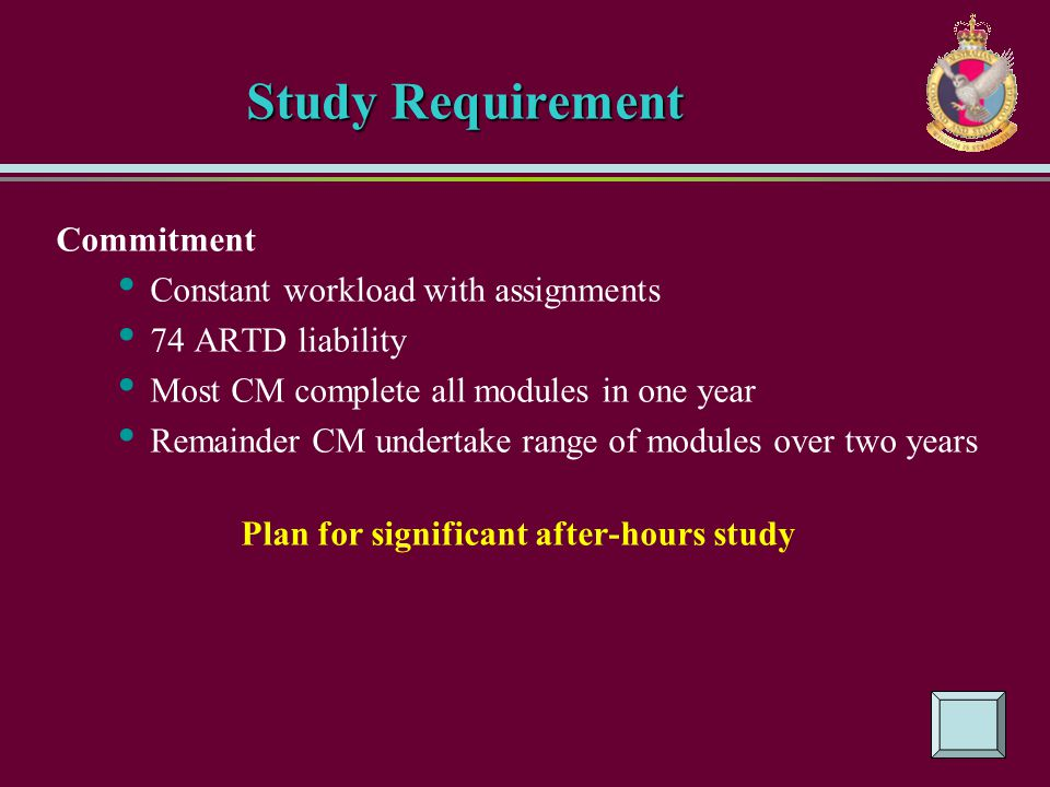 Plan for significant after-hours study