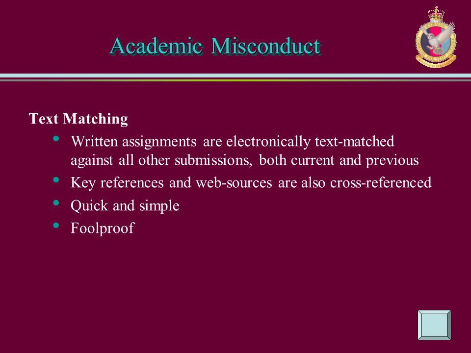 Academic Misconduct Text Matching