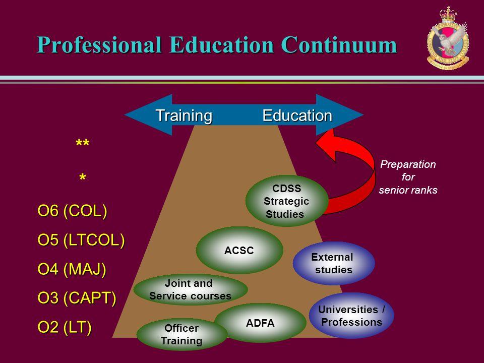Professional Education Continuum