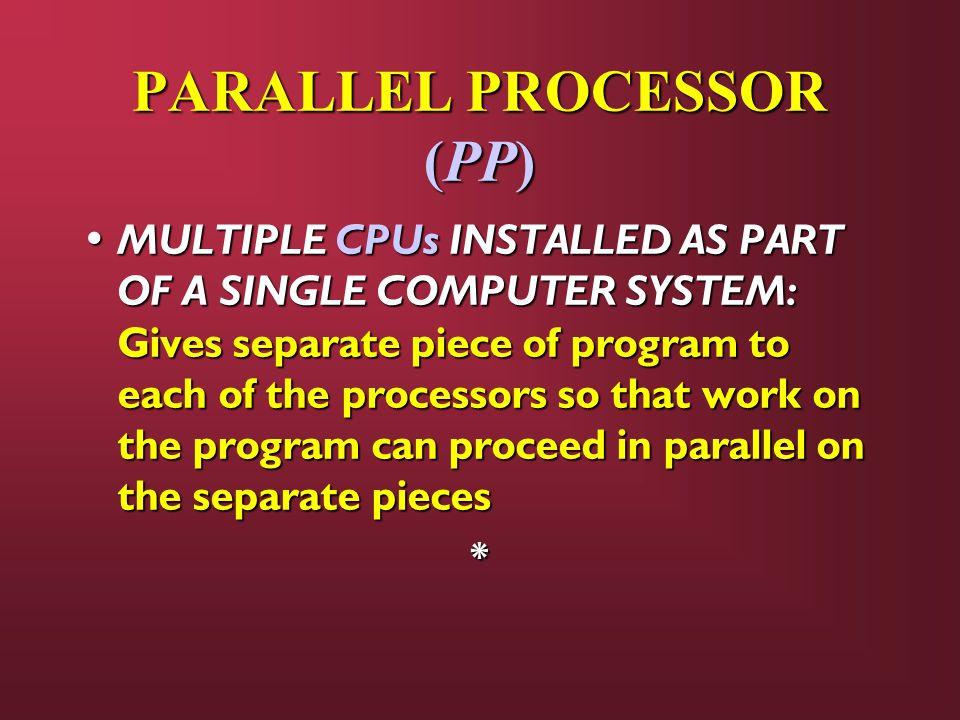 PARALLEL PROCESSOR (PP)
