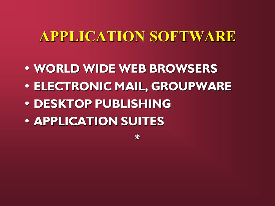 APPLICATION SOFTWARE WORLD WIDE WEB BROWSERS
