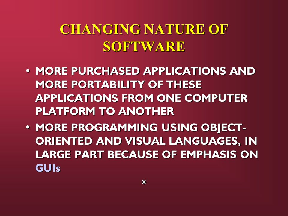 CHANGING NATURE OF SOFTWARE