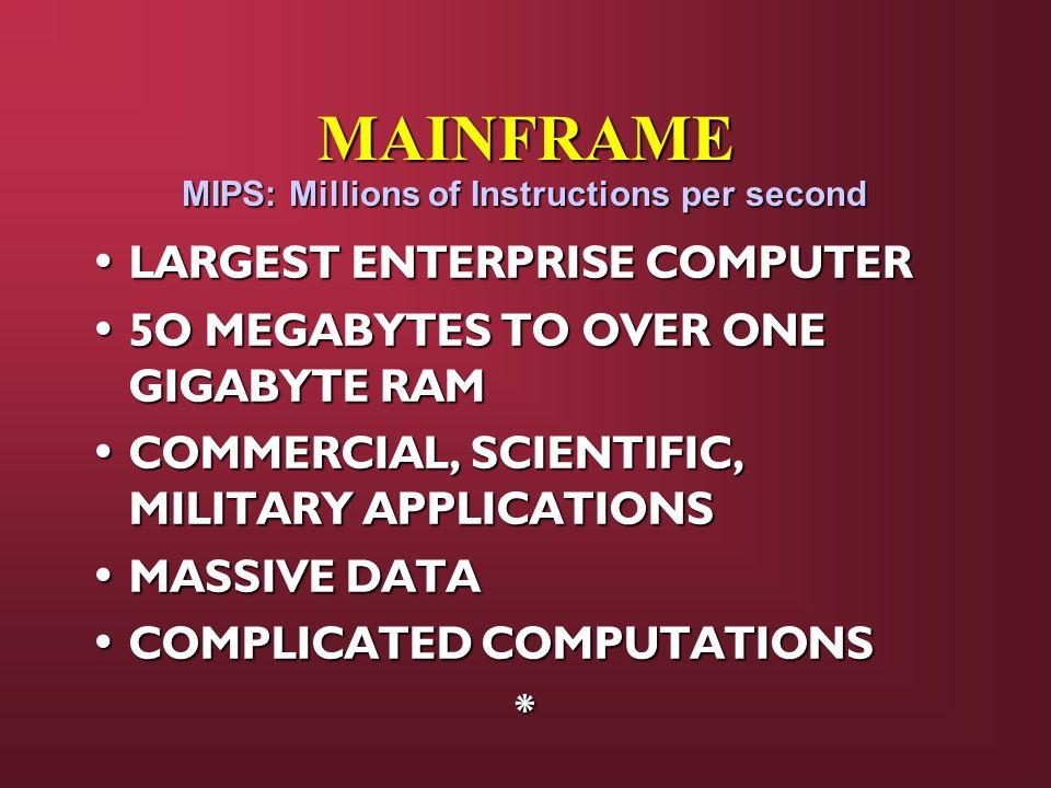 MAINFRAME LARGEST ENTERPRISE COMPUTER