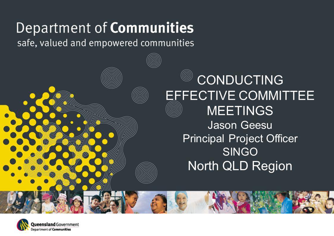 CONDUCTING EFFECTIVE COMMITTEE MEETINGS