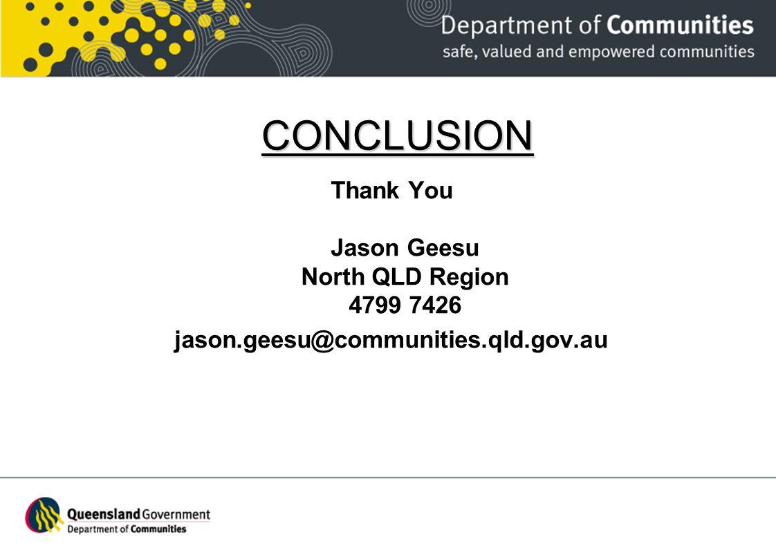 Thank You Jason Geesu North QLD Region 4799 7426