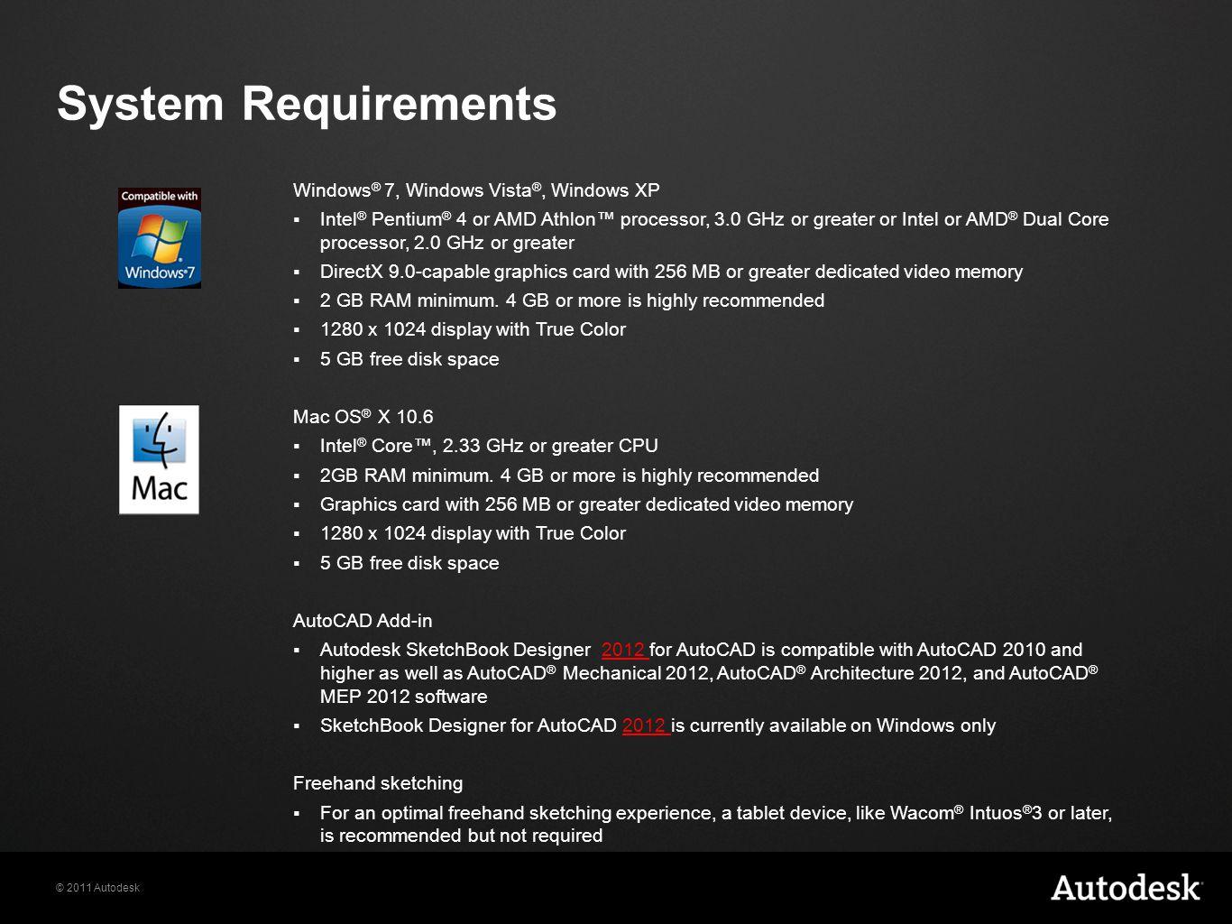 System Requirements Windows® 7, Windows Vista®, Windows XP