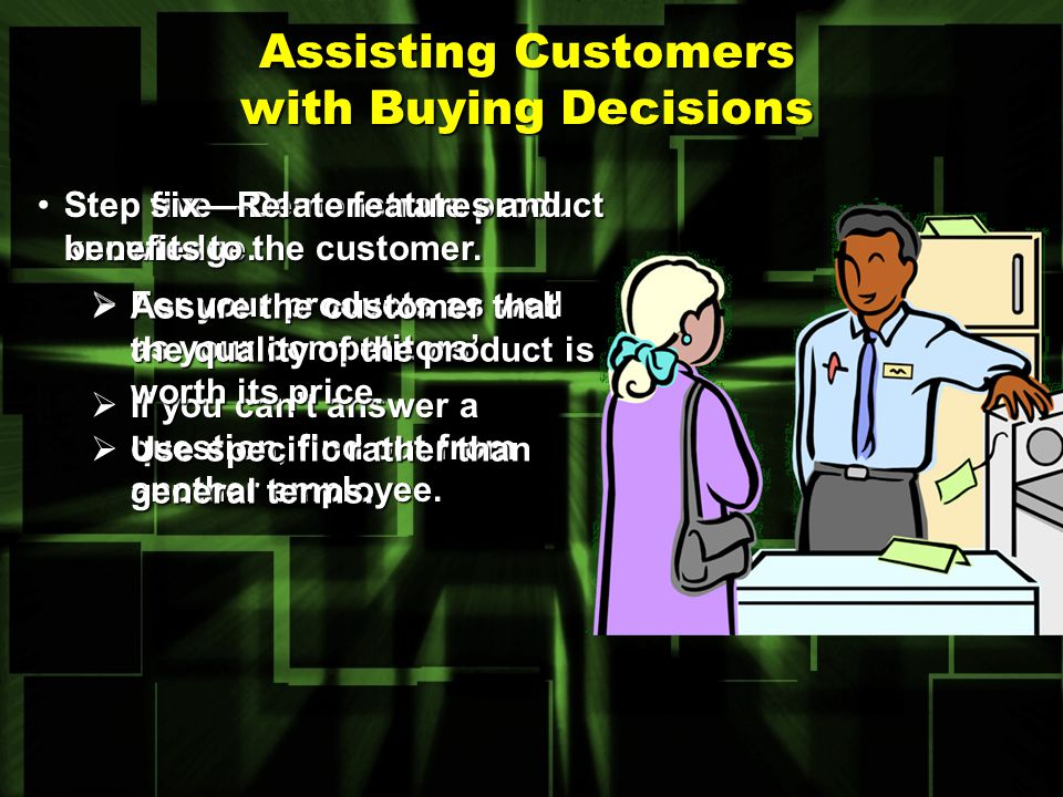 Assisting Customers with Buying Decisions