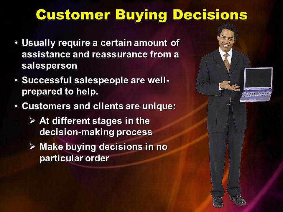 Customer Buying Decisions