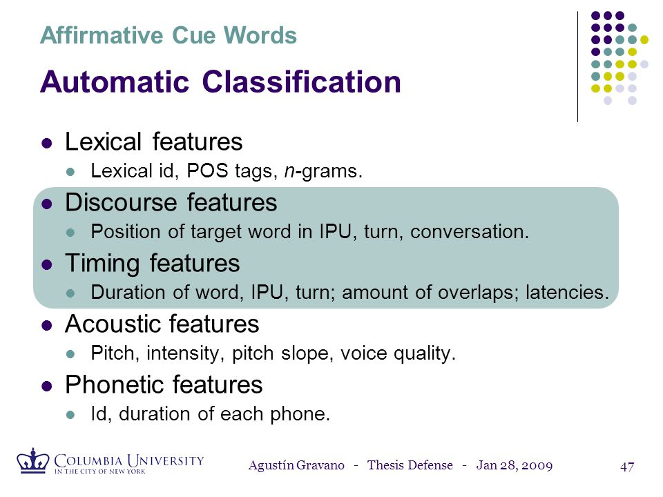 Automatic Classification