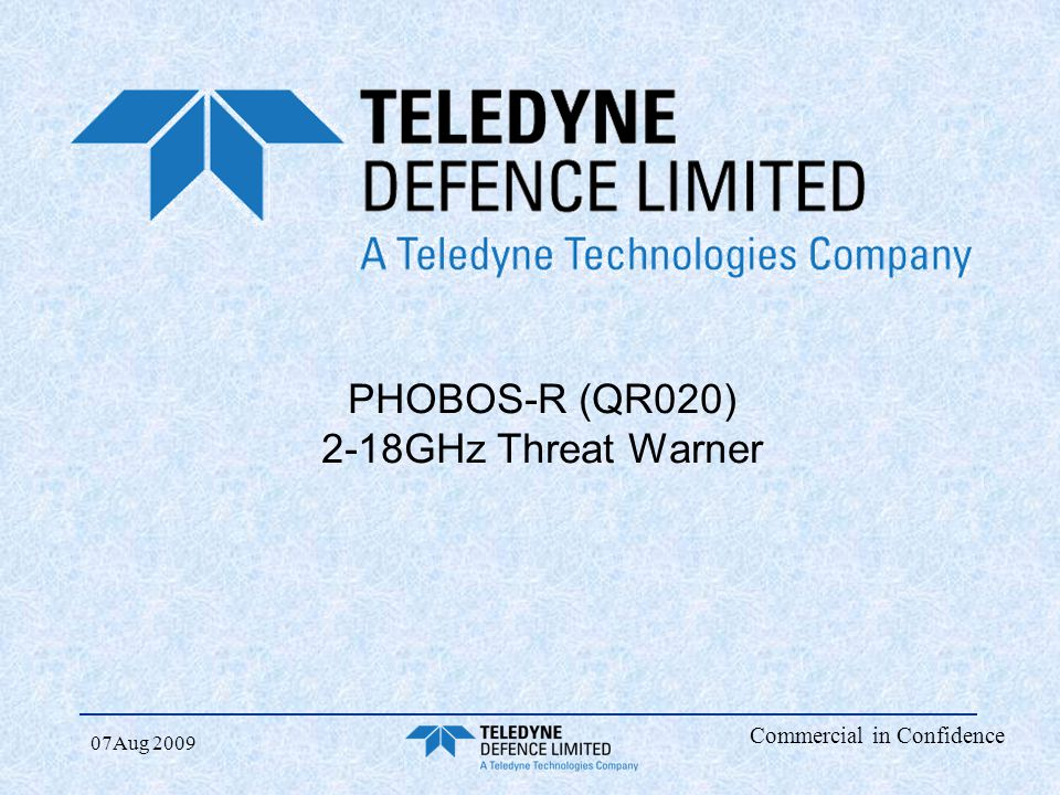 PHOBOS-R (QR020) 2-18GHz Threat Warner