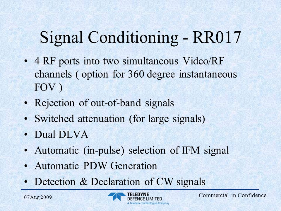 Signal Conditioning - RR017