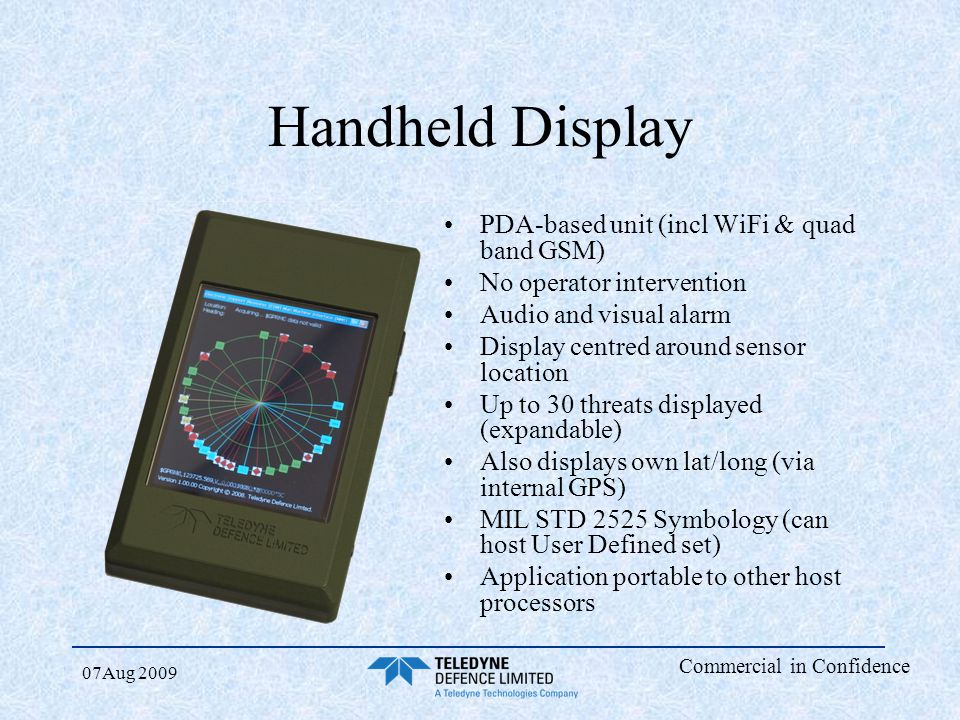 Handheld Display PDA-based unit (incl WiFi & quad band GSM)