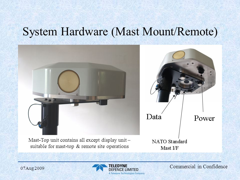 System Hardware (Mast Mount/Remote)