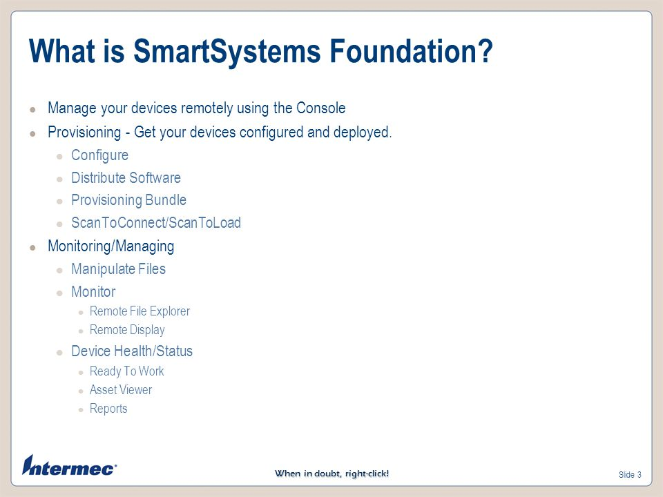 What is SmartSystems Foundation
