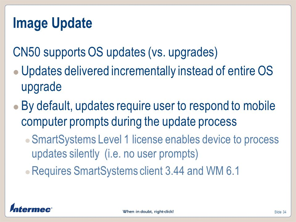 Image Update CN50 supports OS updates (vs. upgrades)