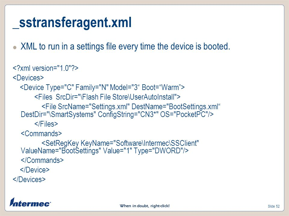 _sstransferagent.xml XML to run in a settings file every time the device is booted. < xml version= 1.0 >