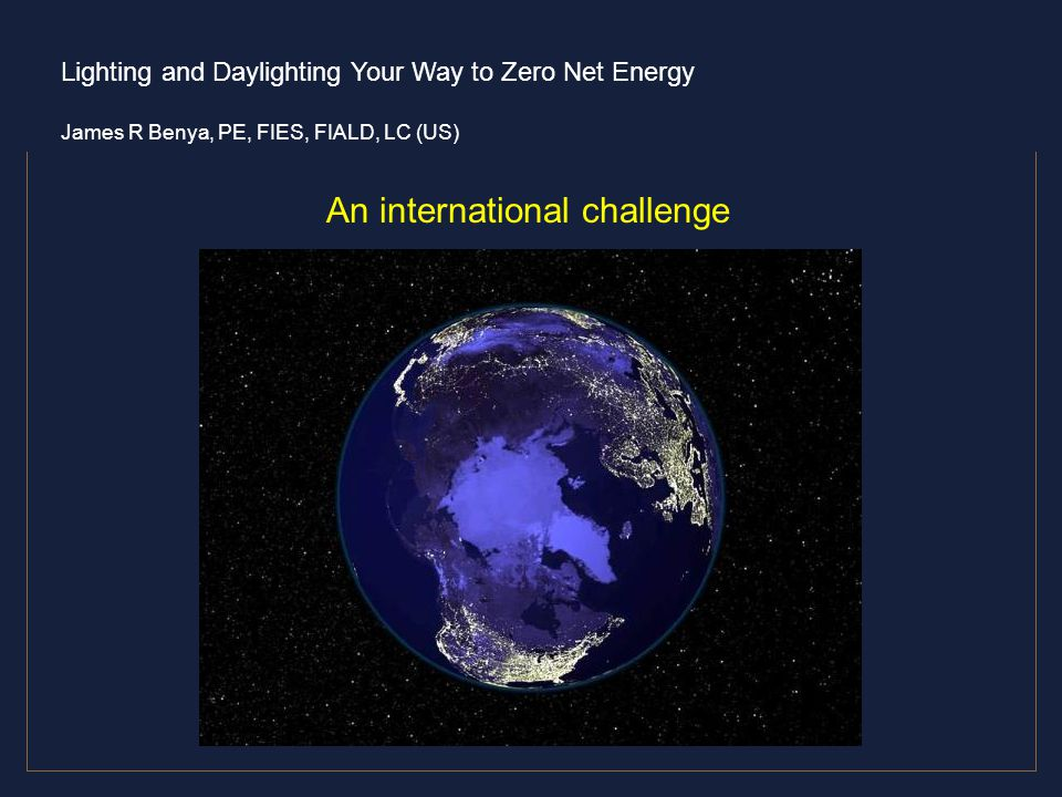 An international challenge