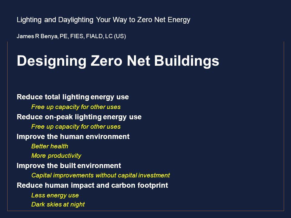 Designing Zero Net Buildings
