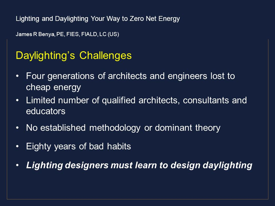Daylighting's Challenges