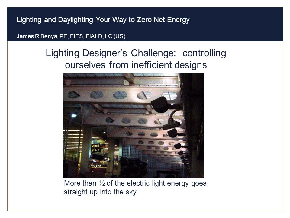Lighting Designer's Challenge: controlling ourselves from inefficient designs