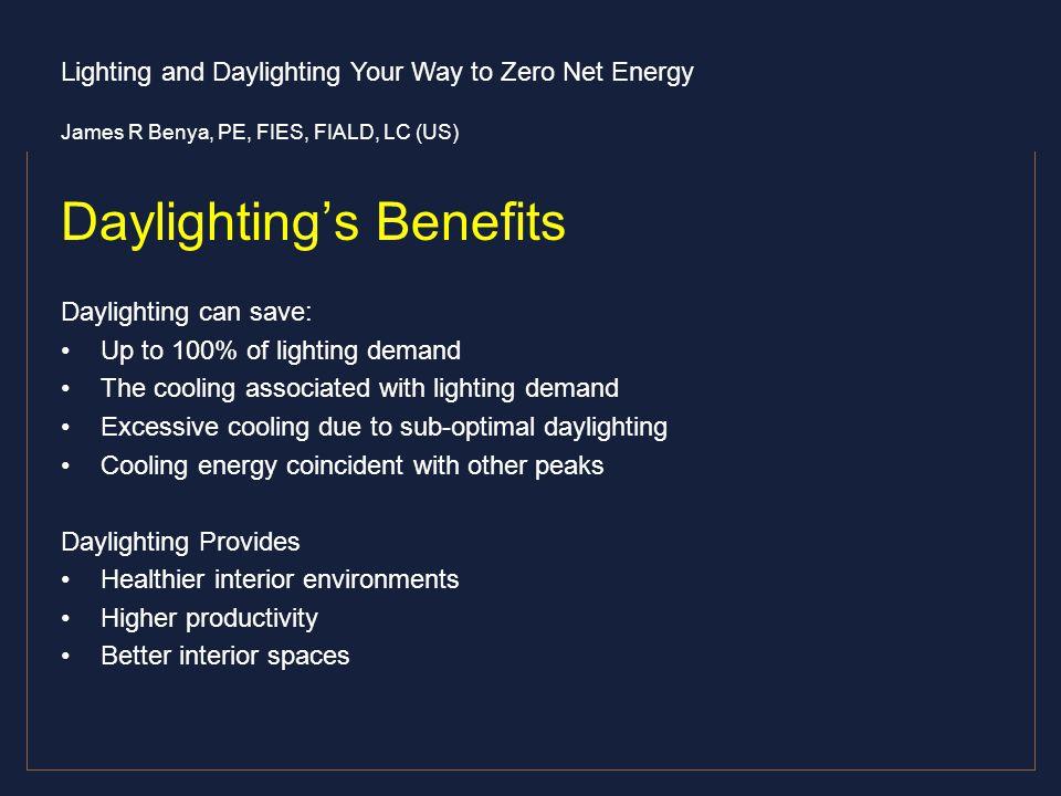 Daylighting's Benefits