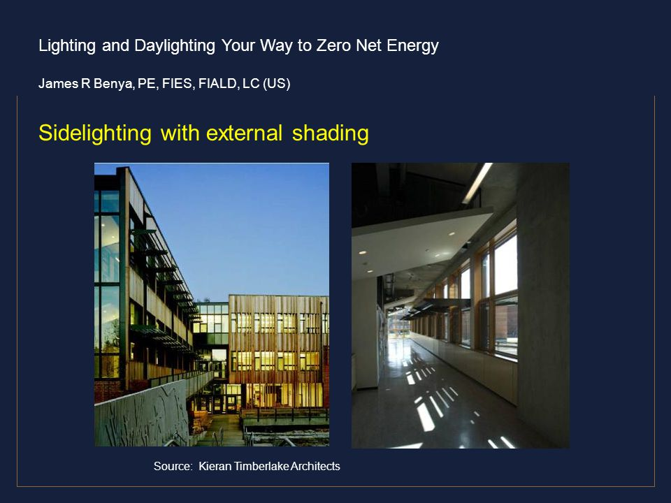Sidelighting with external shading
