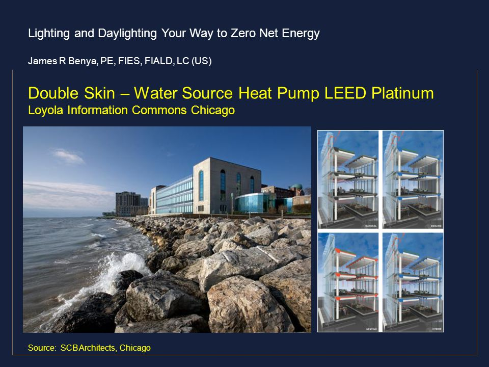 Double Skin – Water Source Heat Pump LEED Platinum Loyola Information Commons Chicago