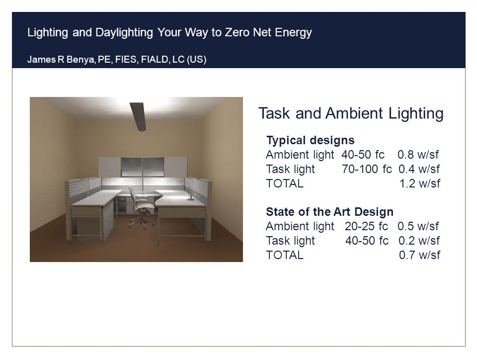 Task and Ambient Lighting