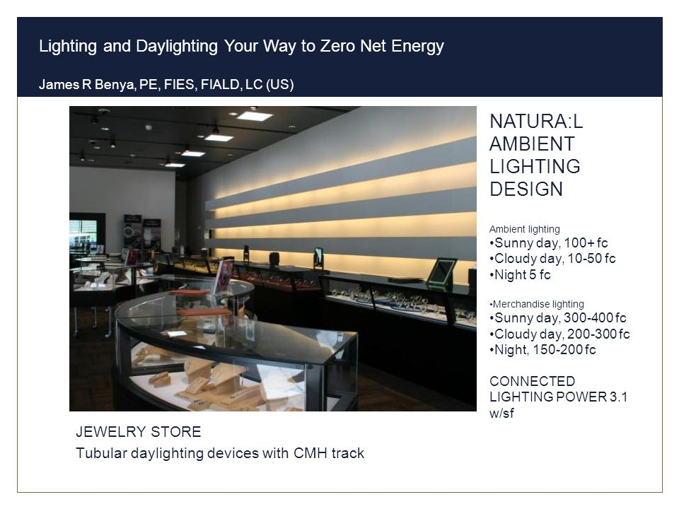 Natural Ambient Sales Lighting