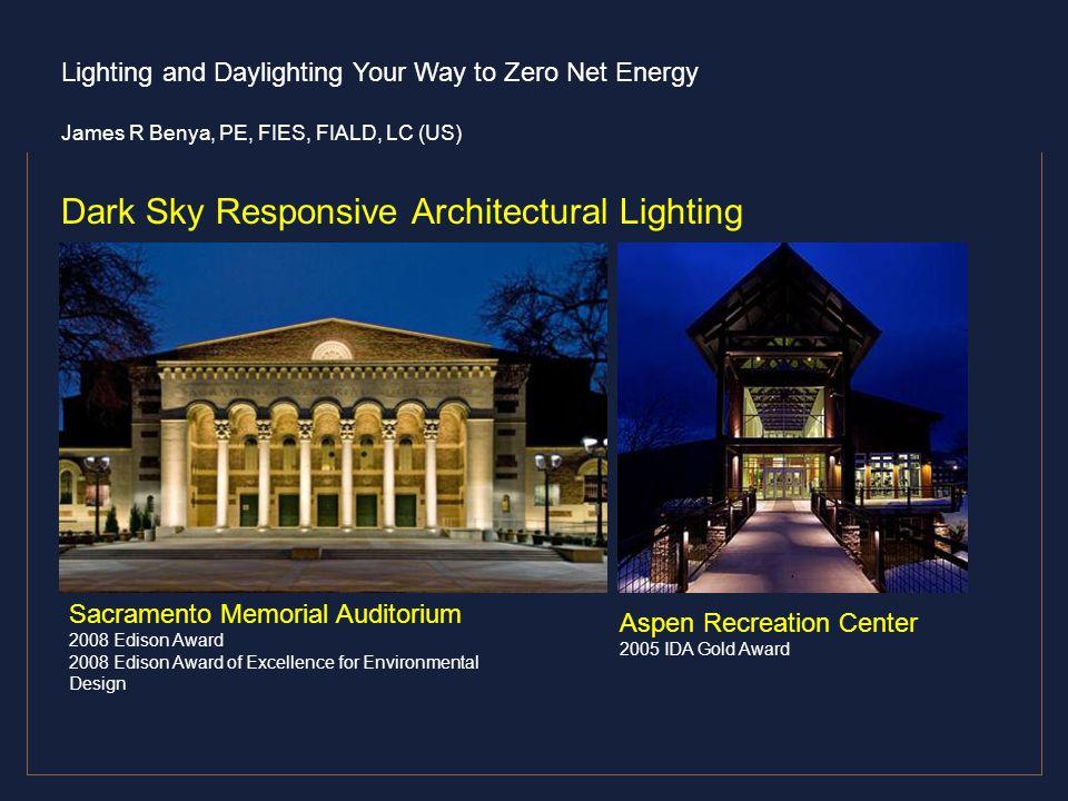 Dark Sky Responsive Architectural Lighting