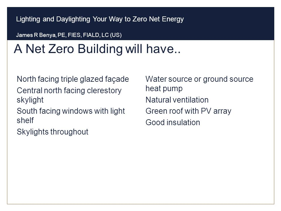 A Net Zero Building will have..
