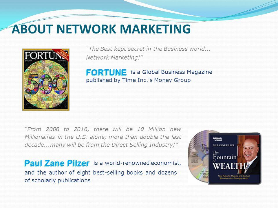 ABOUT NETWORK MARKETING