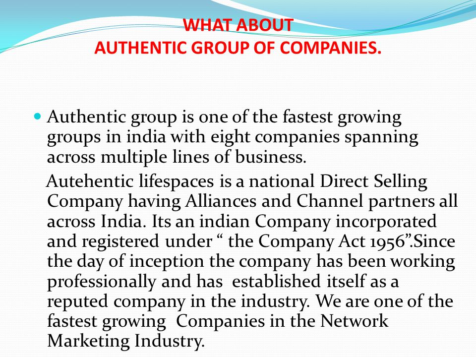 WHAT ABOUT AUTHENTIC GROUP OF COMPANIES.
