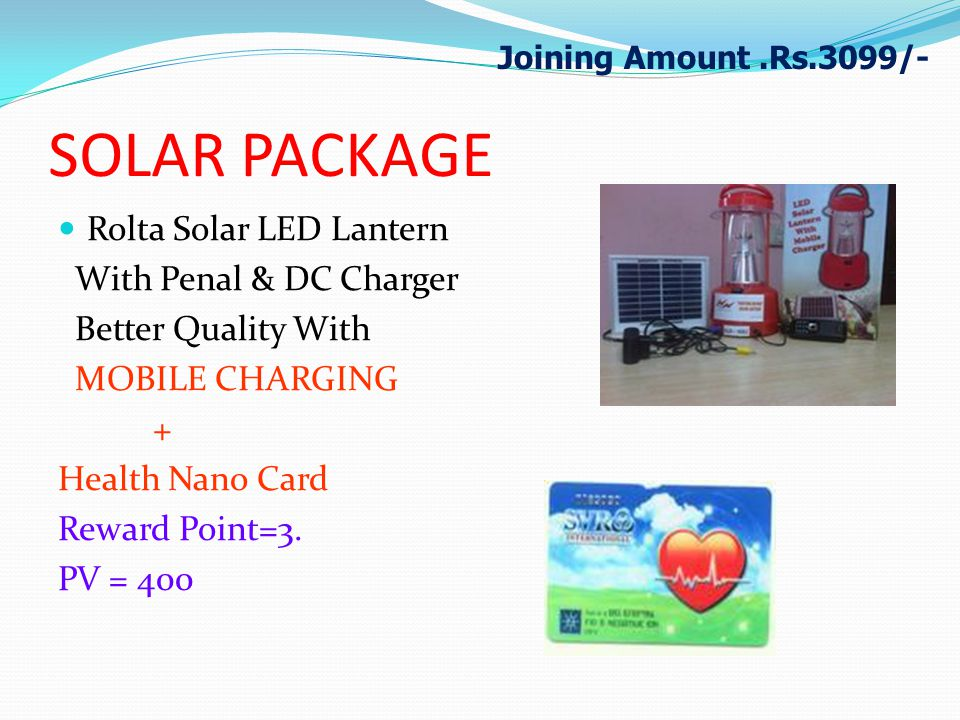 SOLAR PACKAGE Rolta Solar LED Lantern With Penal & DC Charger