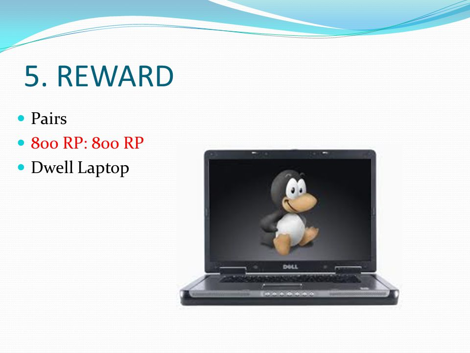 5. REWARD Pairs 800 RP: 800 RP Dwell Laptop