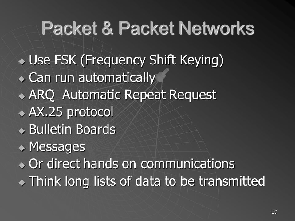 Packet & Packet Networks